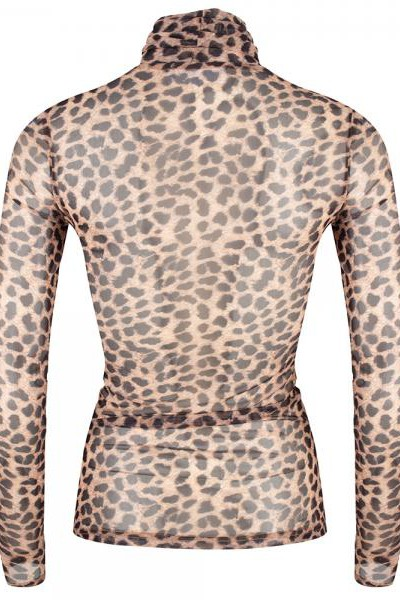 Jacky Luxury Top Mesh Leopard