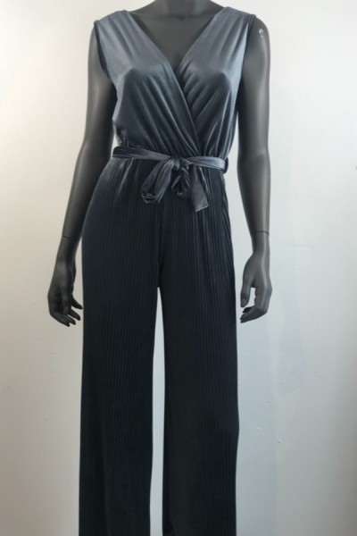 Jumpsuit Velvet Antraciet