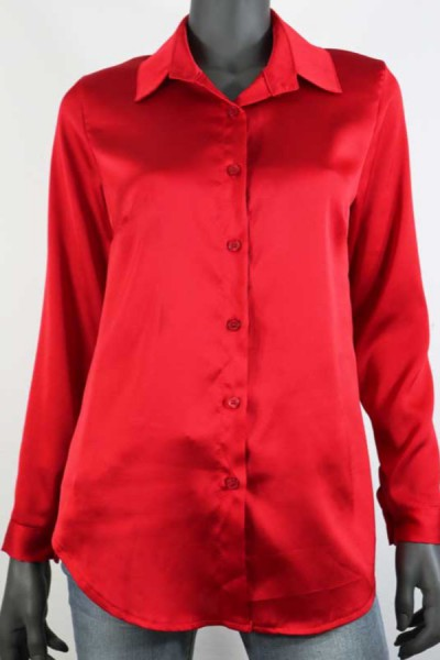 Blouse Satin Rood