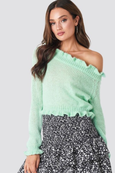 Pull Savanna Off Shoulder Mint
