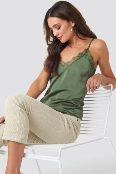 Tina Top Khaki Green