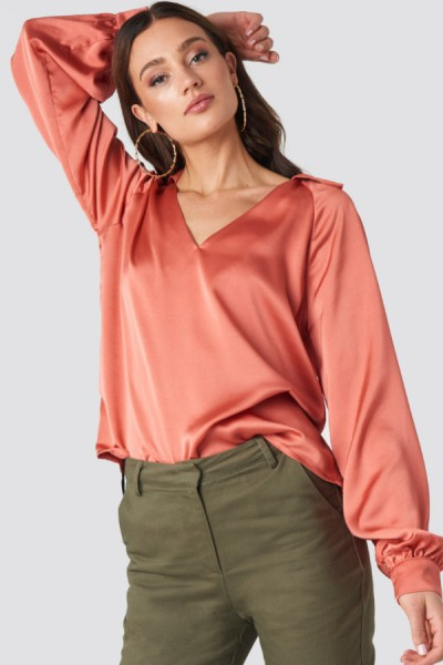 Inez Blouse Burned Orange