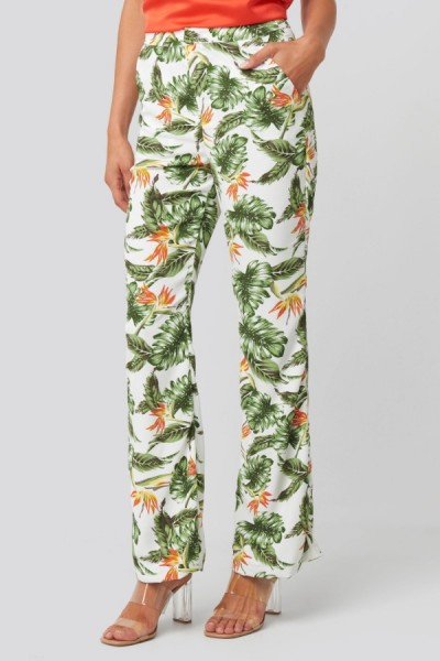 Broek Jonna White Tropical