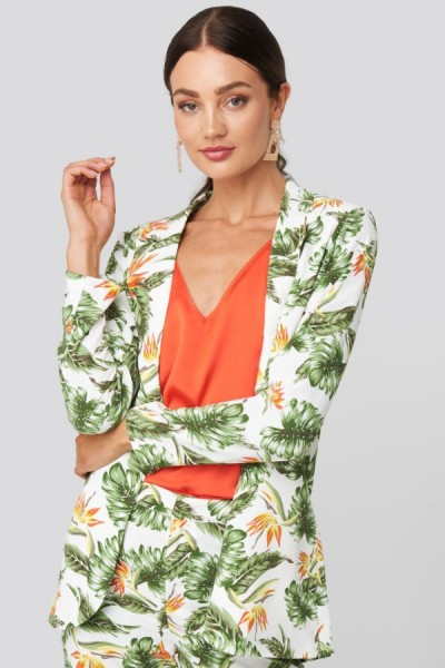 Blazer Jonna White Tropical