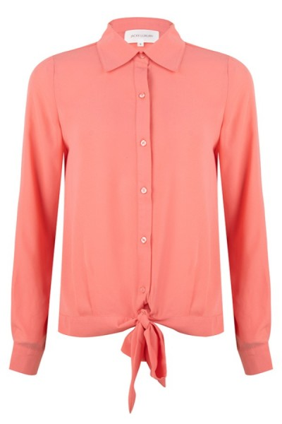 Jacky Luxury Blouse Bow Pink