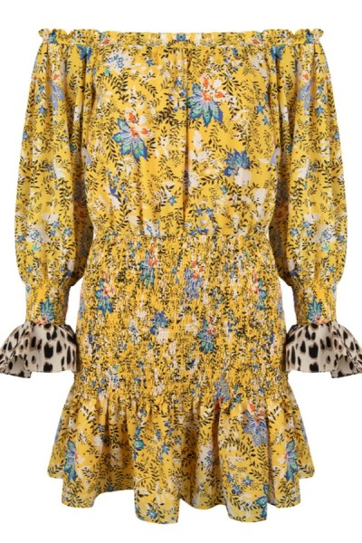 Jacky Luxury Off Shoulder Jurk Bloemenprint