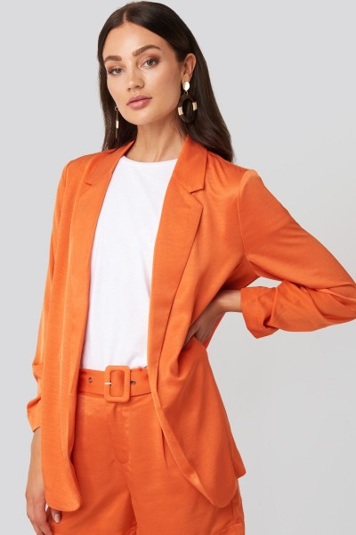 Kelly Blazer Satin Orange