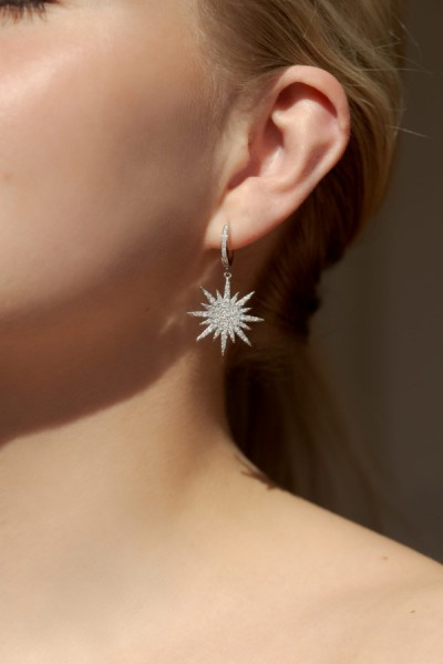 Northern Star Oorring Zilver