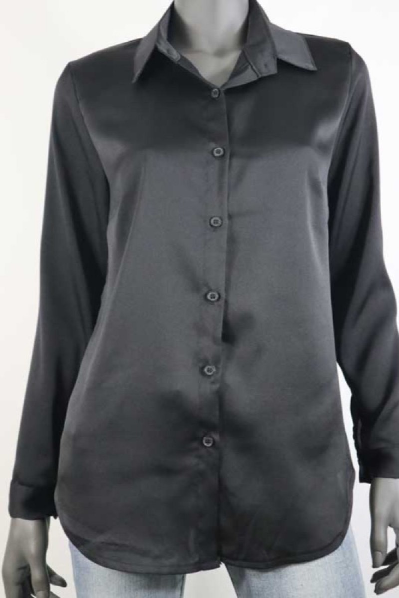 Blouse Satin Zwart