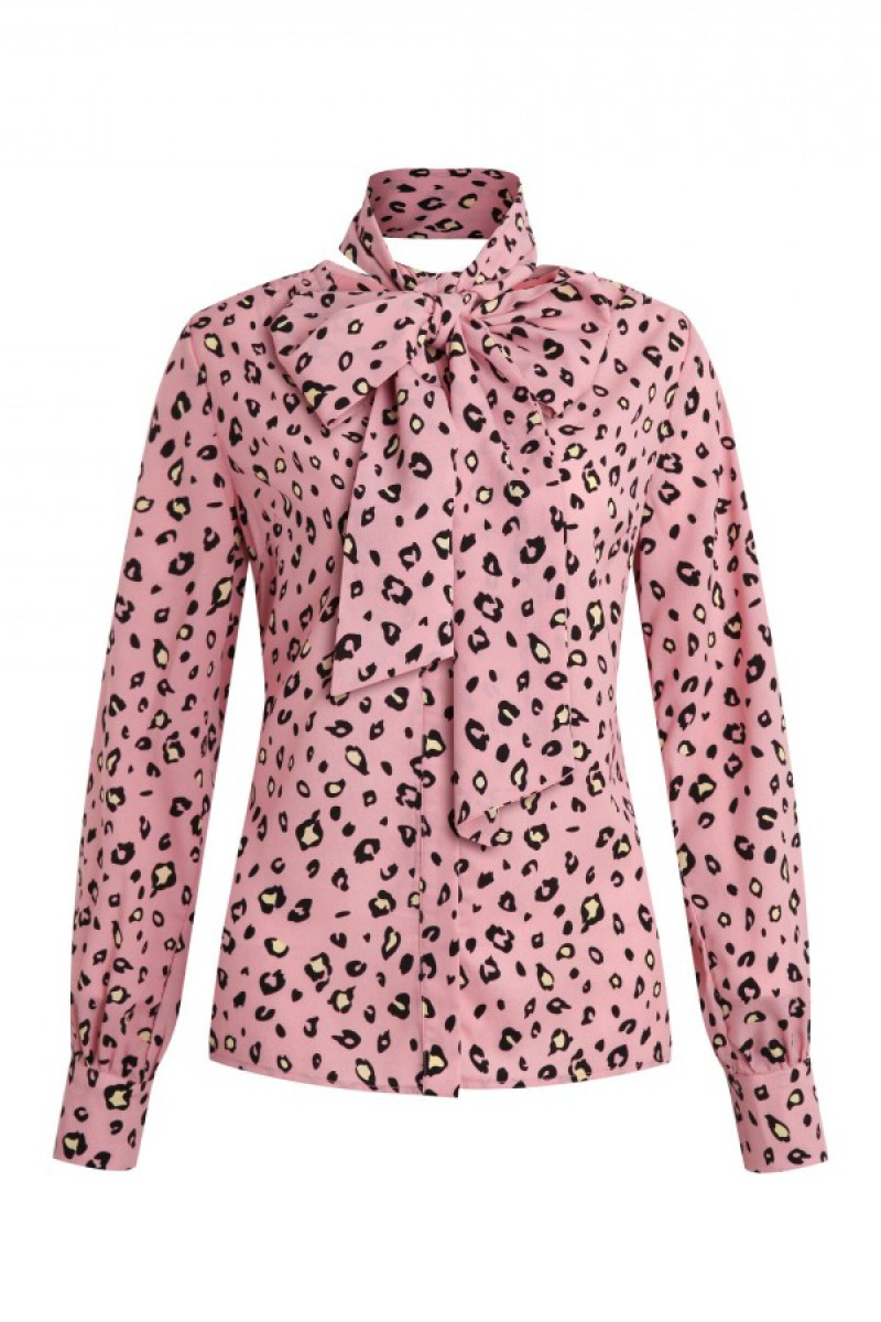 Given Blouse Desiree Leopard Rose
